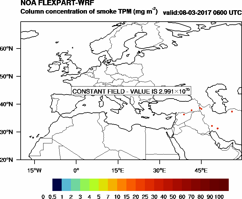 Column concentration of smoke TPM - 2017-03-08 06:00