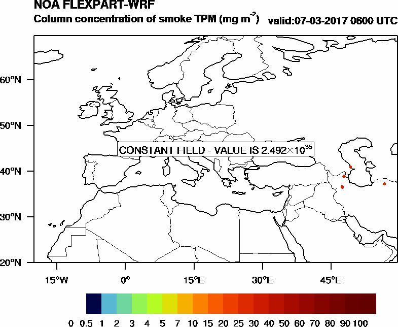 Column concentration of smoke TPM - 2017-03-07 06:00