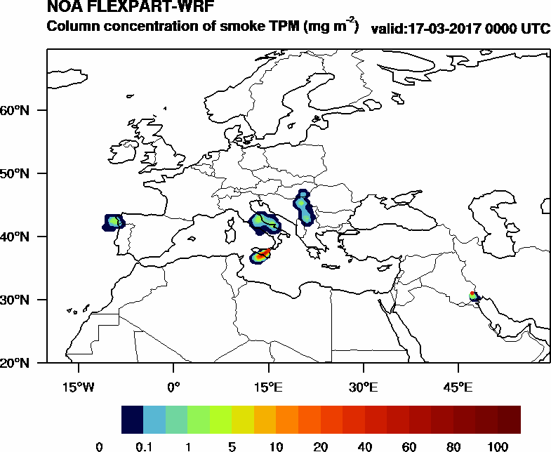 Column concentration of smoke TPM - 2017-03-17 00:00