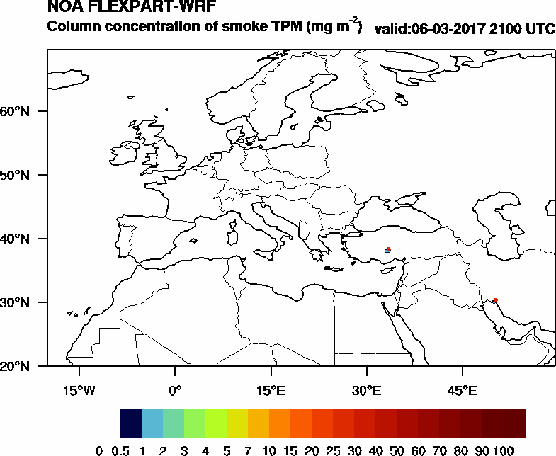 Column concentration of smoke TPM - 2017-03-06 21:00