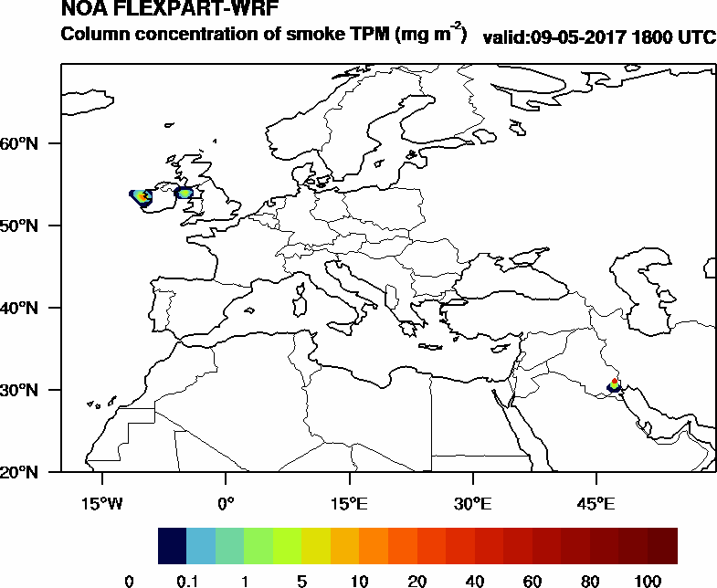 Column concentration of smoke TPM - 2017-05-09 18:00