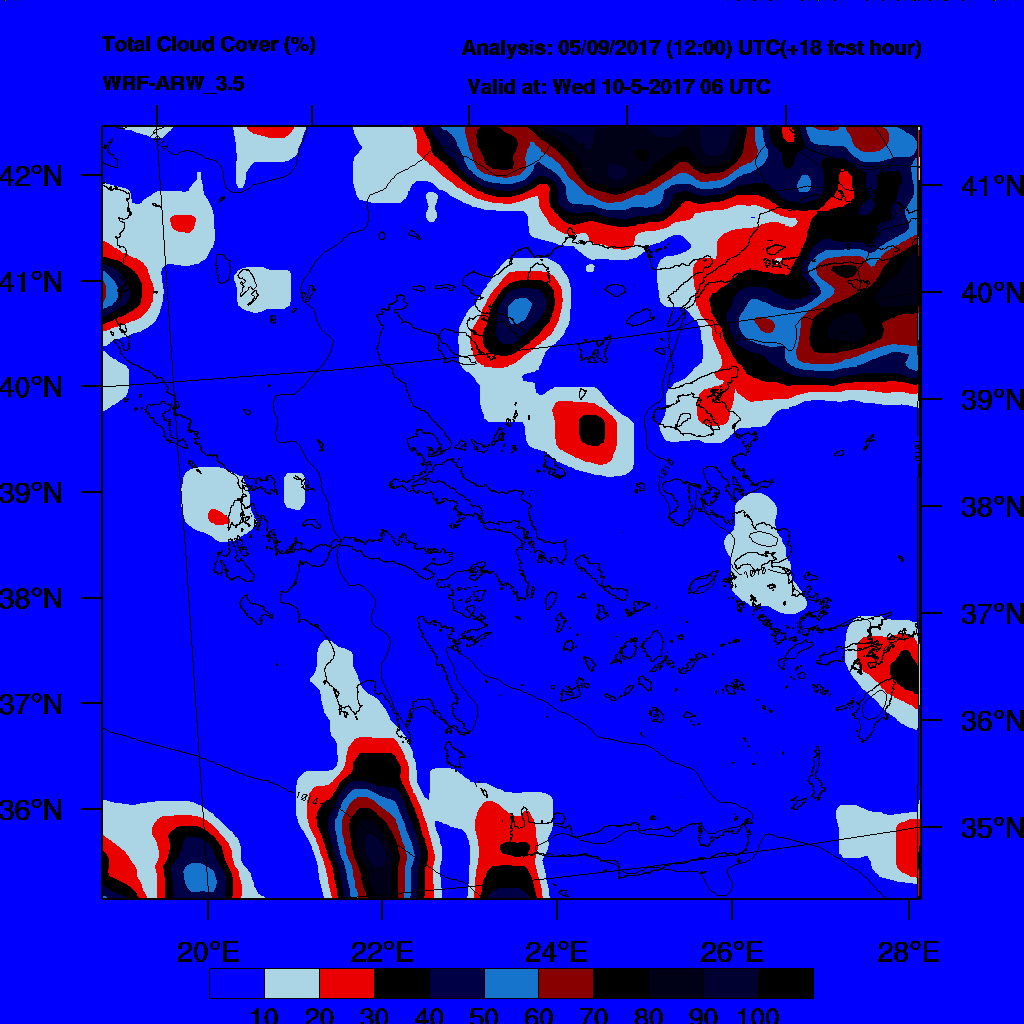 6h Accumulated Precipitation (mm) and msl press (mb) - 2017-05-11 00:00