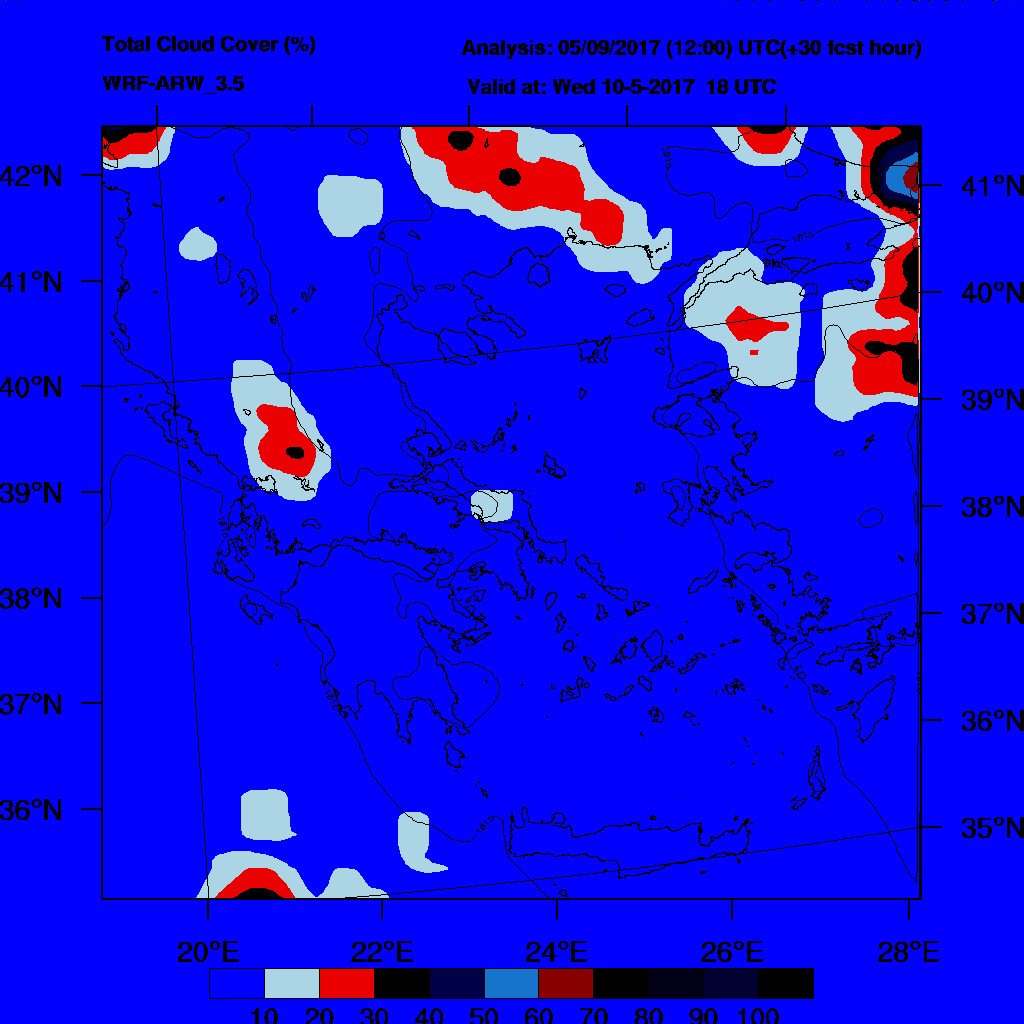 6h Accumulated Precipitation (mm) and msl press (mb) - 2017-05-11 12:00