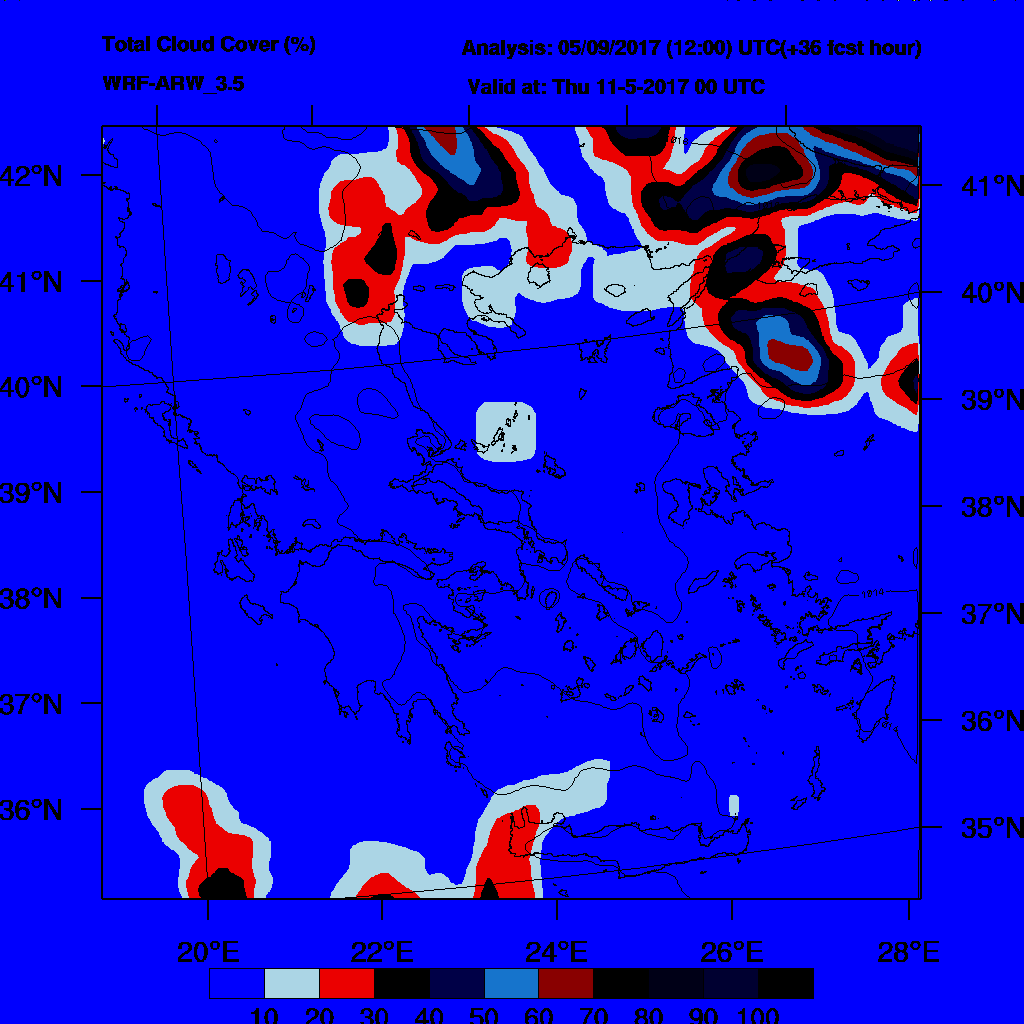 6h Accumulated Precipitation (mm) and msl press (mb) - 2017-05-11 18:00