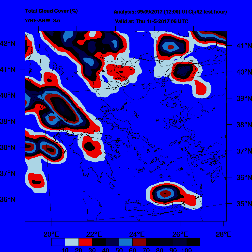 6h Accumulated Precipitation (mm) and msl press (mb) - 2017-05-12 00:00