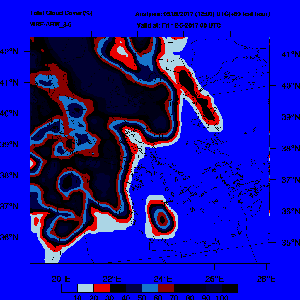 6h Accumulated Precipitation (mm) and msl press (mb) - 2017-05-12 18:00