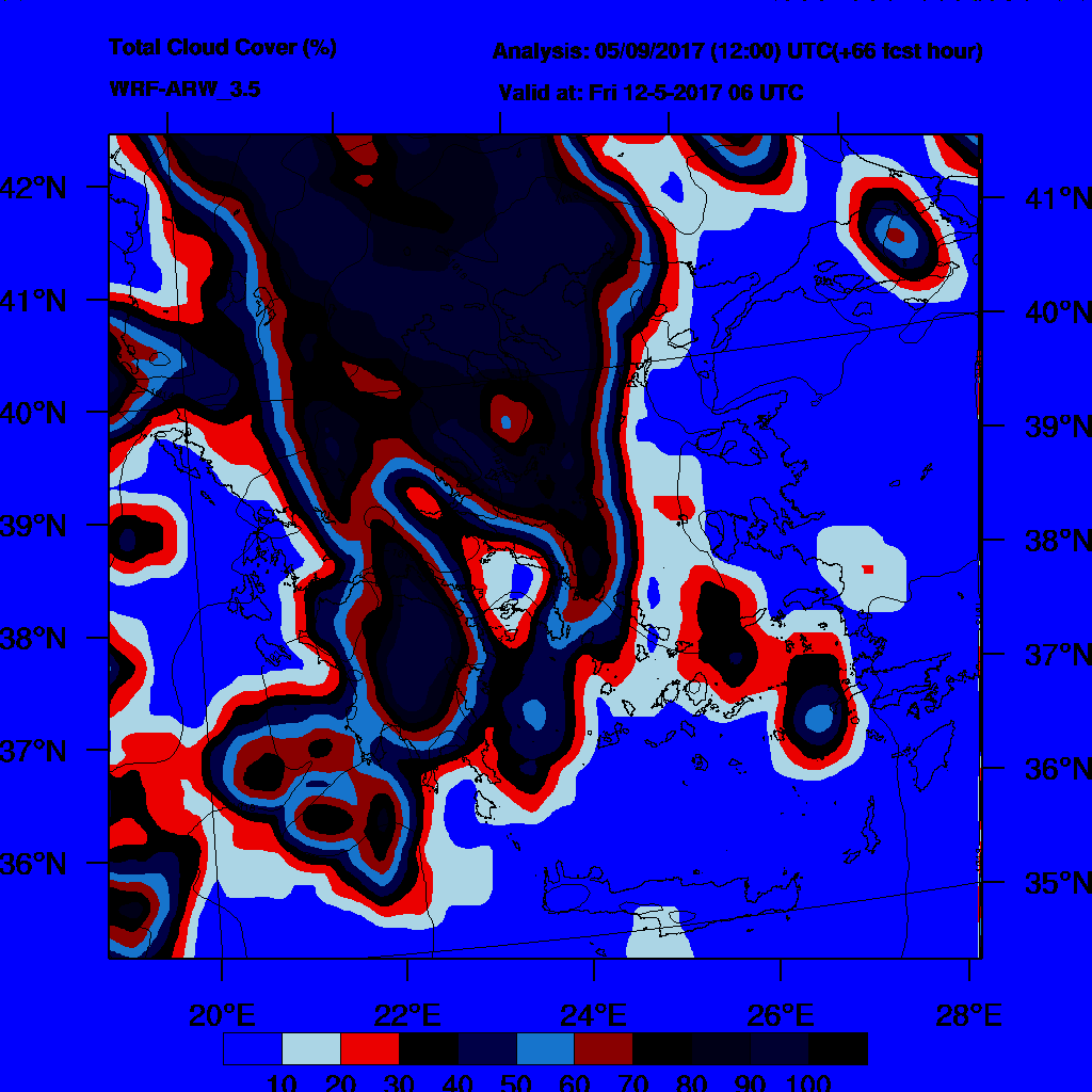 6h Accumulated Precipitation (mm) and msl press (mb) - 2017-05-13 00:00