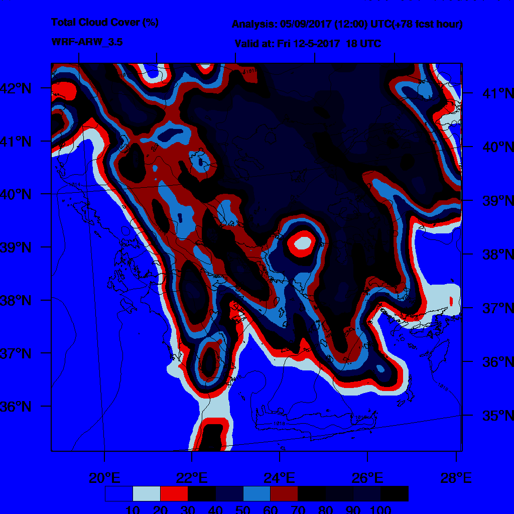 6h Accumulated Precipitation (mm) and msl press (mb) - 2017-05-13 12:00