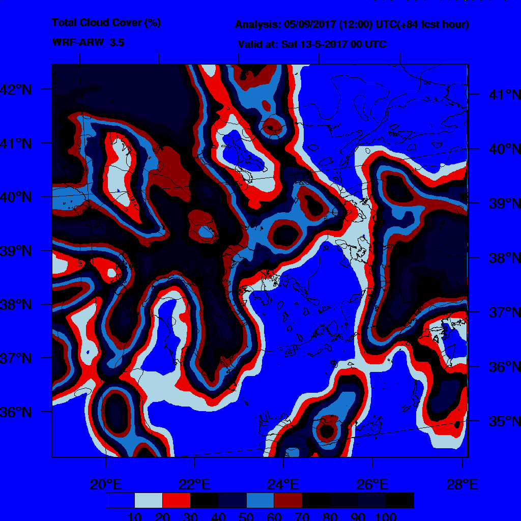 6h Accumulated Precipitation (mm) and msl press (mb) - 2017-05-13 18:00