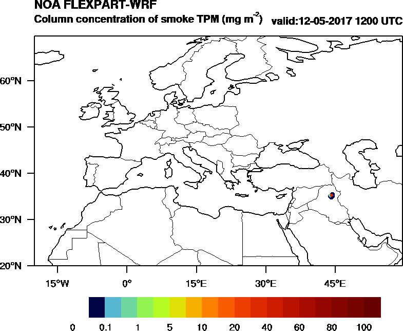 Column concentration of smoke TPM - 2017-05-12 12:00