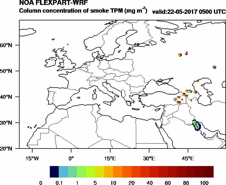 Column concentration of smoke TPM - 2017-05-22 05:00