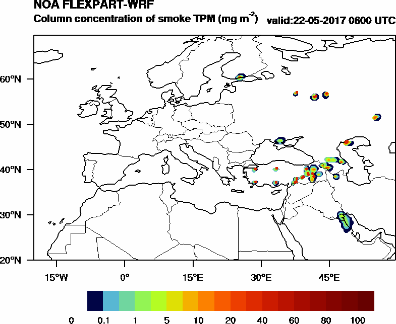 Column concentration of smoke TPM - 2017-05-22 06:00