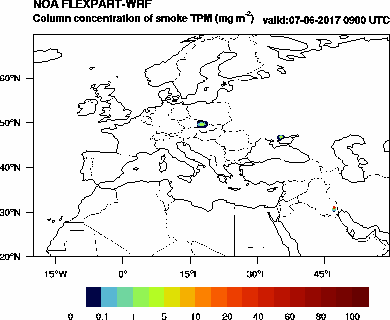 Column concentration of smoke TPM - 2017-06-07 09:00