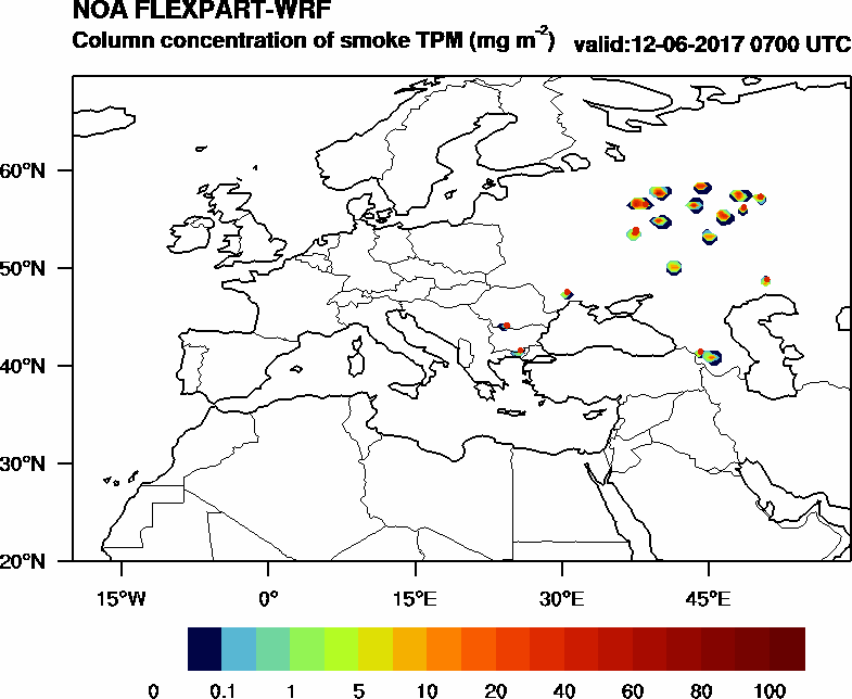 Column concentration of smoke TPM - 2017-06-12 07:00