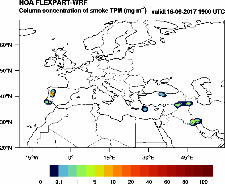 Column concentration of smoke TPM - 2017-06-16 19:00