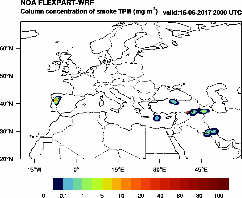 Column concentration of smoke TPM - 2017-06-16 20:00