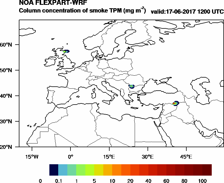 Column concentration of smoke TPM - 2017-06-17 12:00