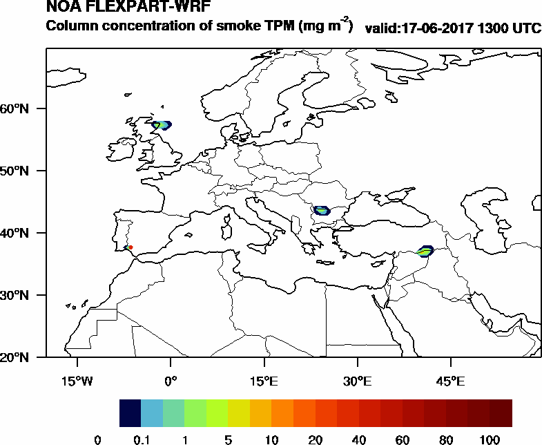 Column concentration of smoke TPM - 2017-06-17 13:00