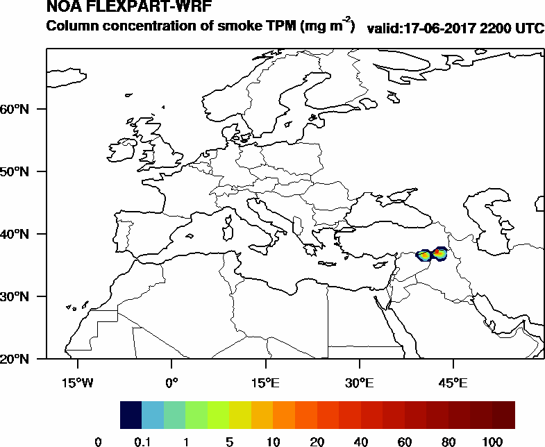 Column concentration of smoke TPM - 2017-06-17 22:00