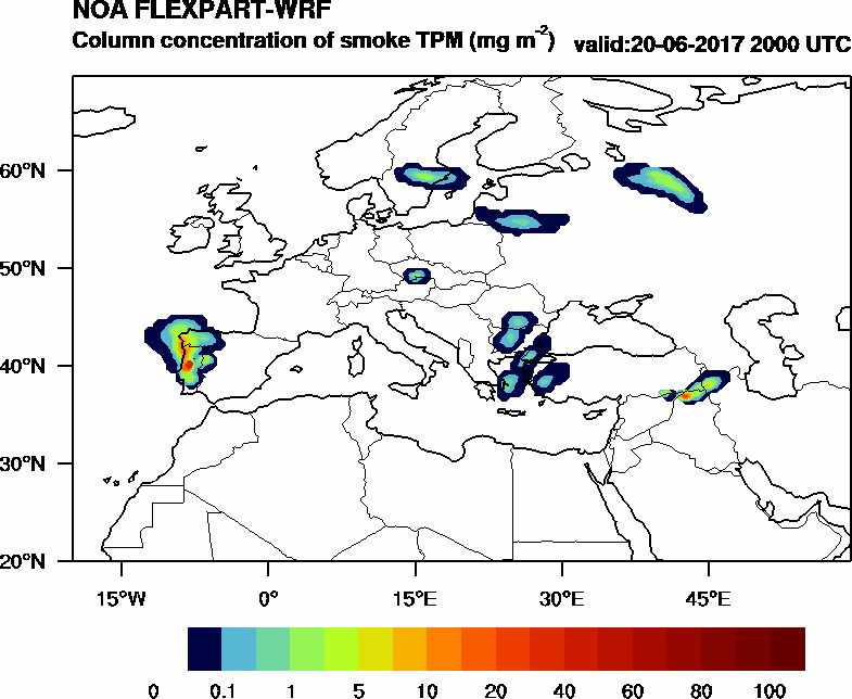 Column concentration of smoke TPM - 2017-06-20 20:00