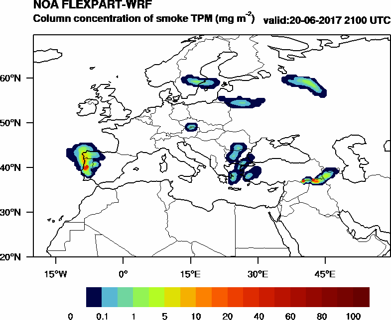 Column concentration of smoke TPM - 2017-06-20 21:00