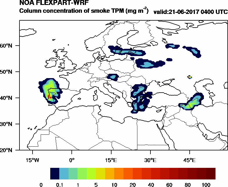 Column concentration of smoke TPM - 2017-06-21 04:00