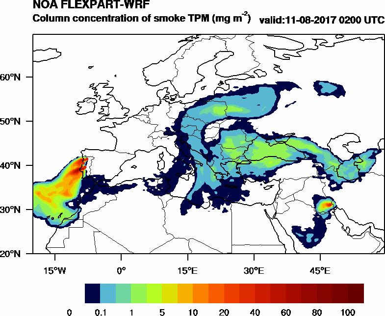 Column concentration of smoke TPM - 2017-08-11 02:00