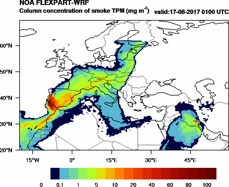 Column concentration of smoke TPM - 2017-08-17 01:00