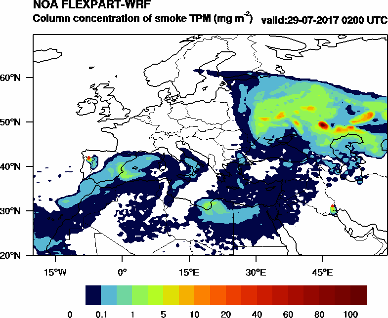 Column concentration of smoke TPM - 2017-07-29 02:00