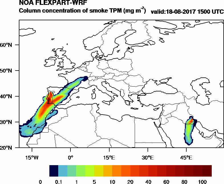 Column concentration of smoke TPM - 2017-08-18 15:00