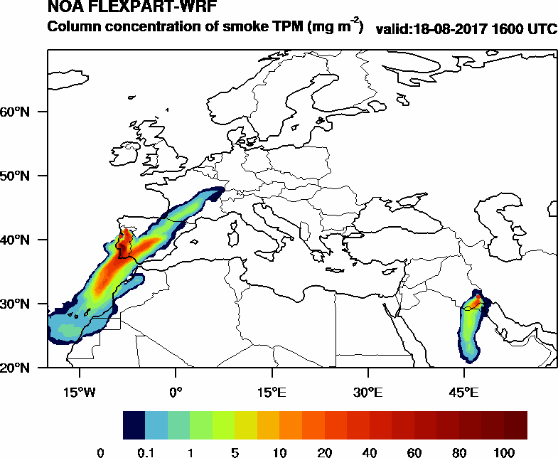 Column concentration of smoke TPM - 2017-08-18 16:00