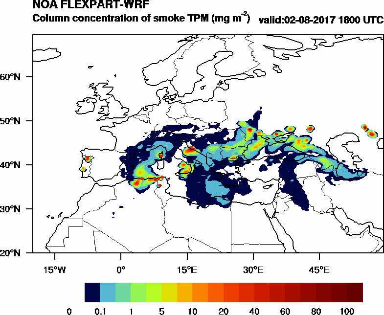 Column concentration of smoke TPM - 2017-08-02 18:00