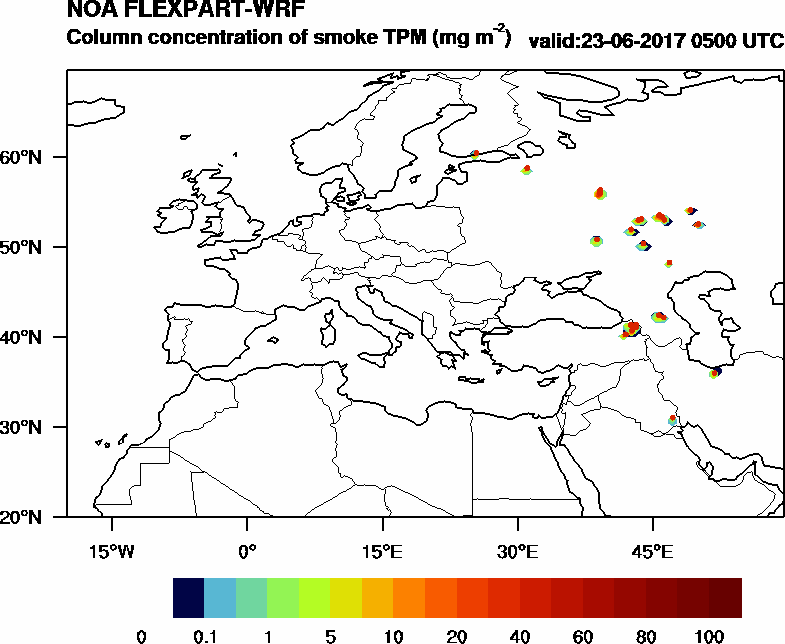 Column concentration of smoke TPM - 2017-06-23 05:00