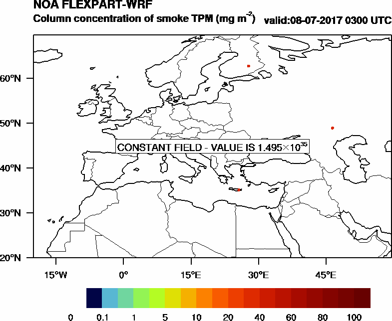 Column concentration of smoke TPM - 2017-07-08 03:00