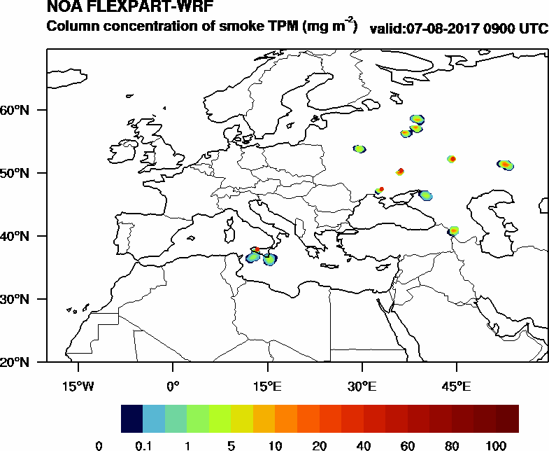 Column concentration of smoke TPM - 2017-08-07 09:00