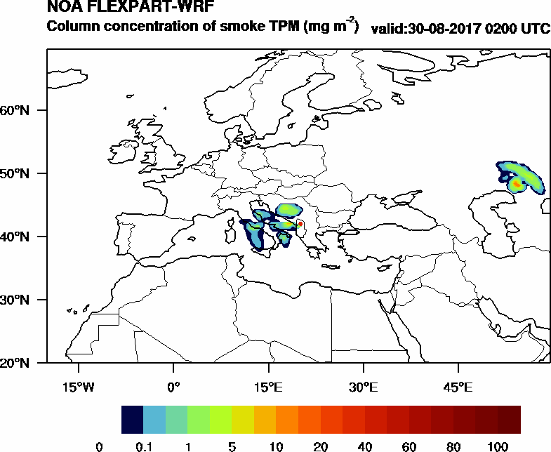 Column concentration of smoke TPM - 2017-08-30 02:00