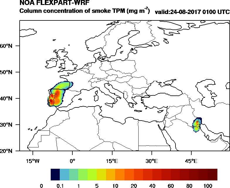 Column concentration of smoke TPM - 2017-08-24 01:00