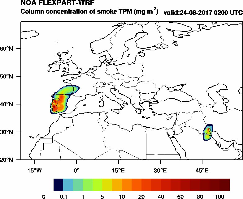 Column concentration of smoke TPM - 2017-08-24 02:00