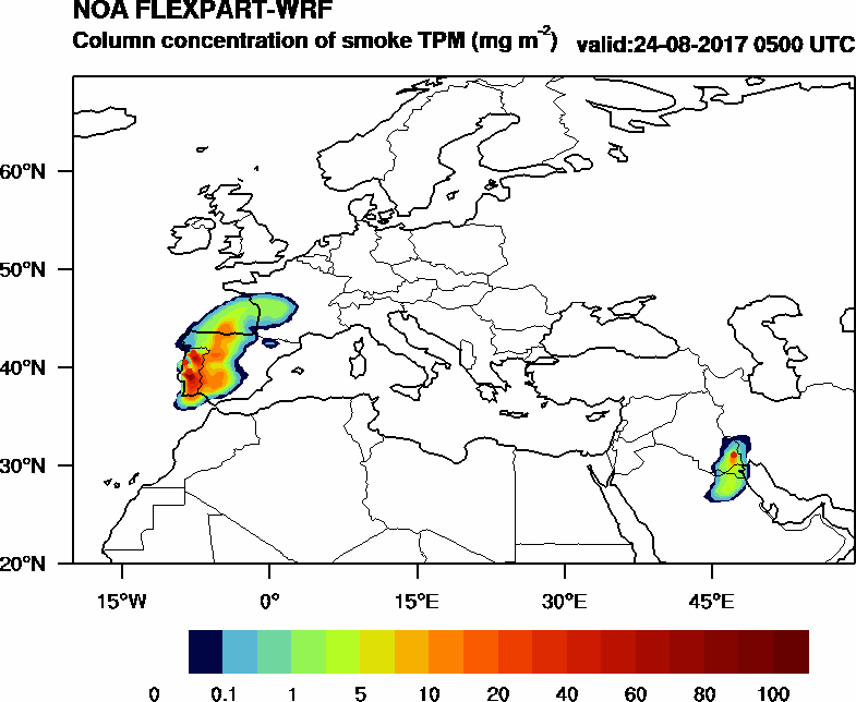 Column concentration of smoke TPM - 2017-08-24 05:00