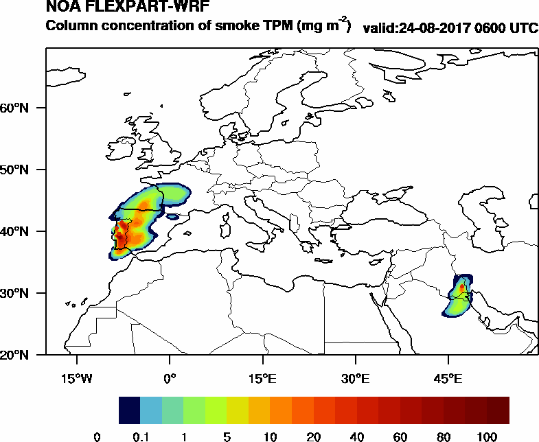 Column concentration of smoke TPM - 2017-08-24 06:00