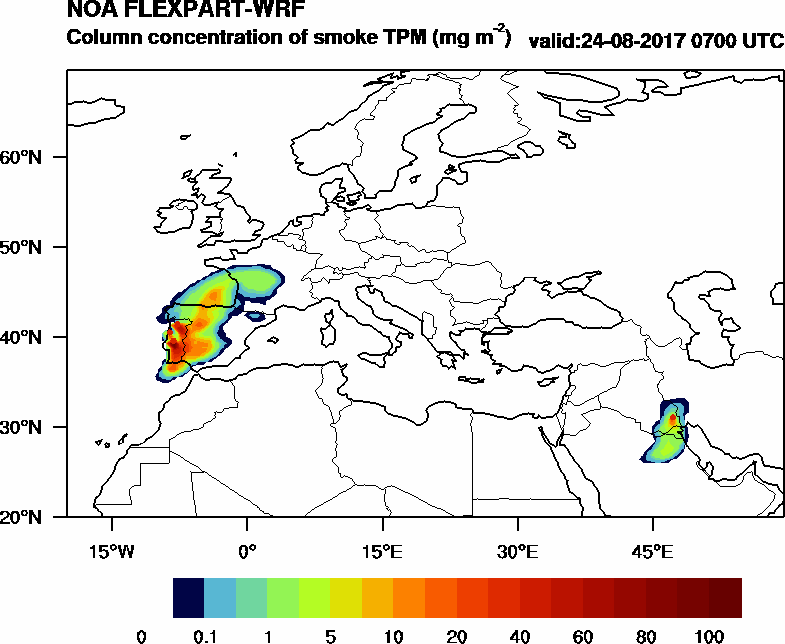 Column concentration of smoke TPM - 2017-08-24 07:00