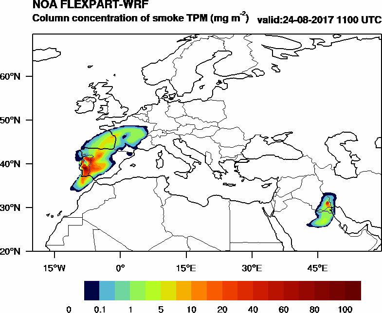 Column concentration of smoke TPM - 2017-08-24 11:00