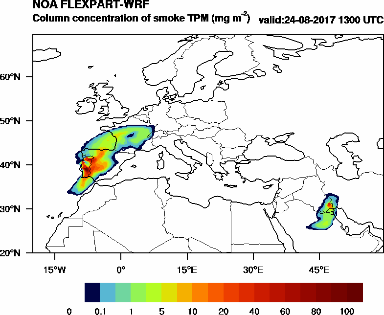 Column concentration of smoke TPM - 2017-08-24 13:00