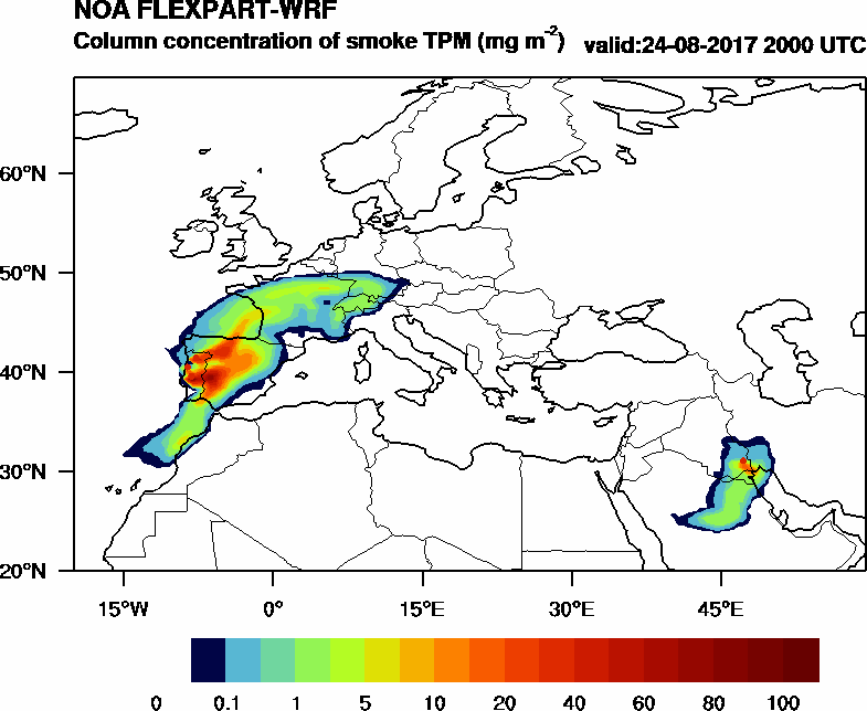 Column concentration of smoke TPM - 2017-08-24 20:00
