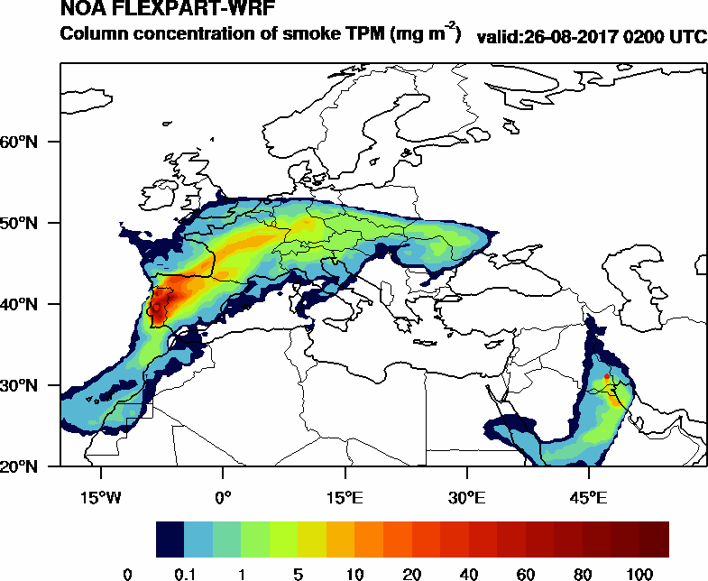 Column concentration of smoke TPM - 2017-08-26 02:00