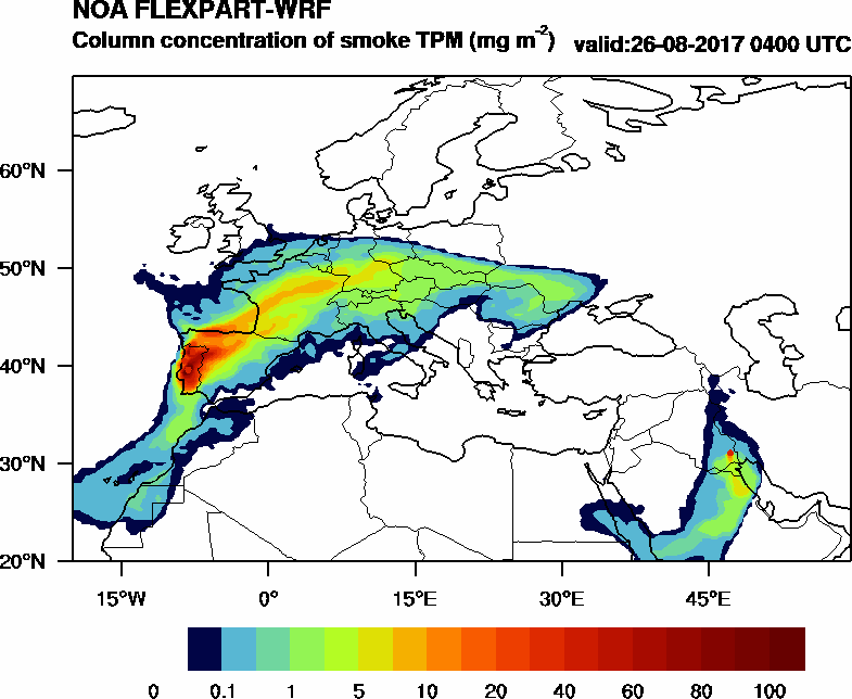 Column concentration of smoke TPM - 2017-08-26 04:00