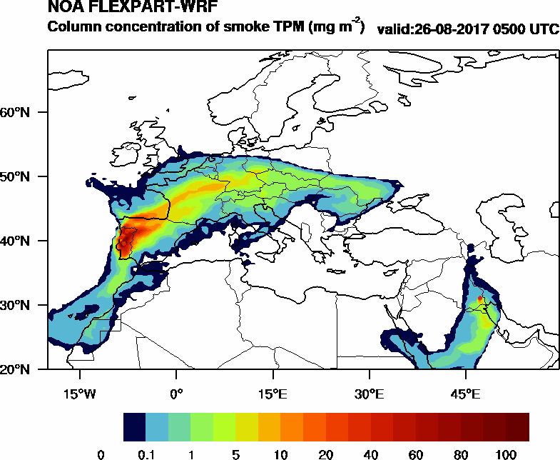 Column concentration of smoke TPM - 2017-08-26 05:00