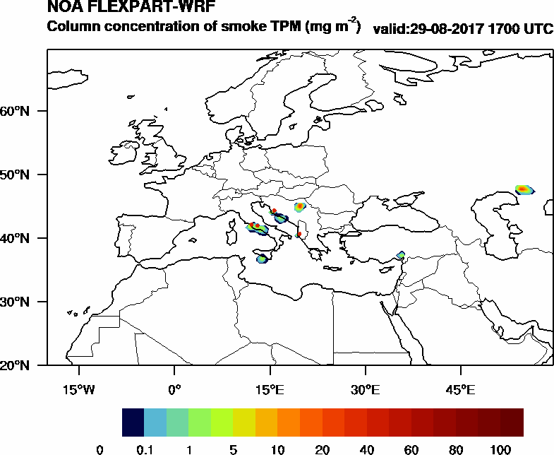 Column concentration of smoke TPM - 2017-08-29 17:00