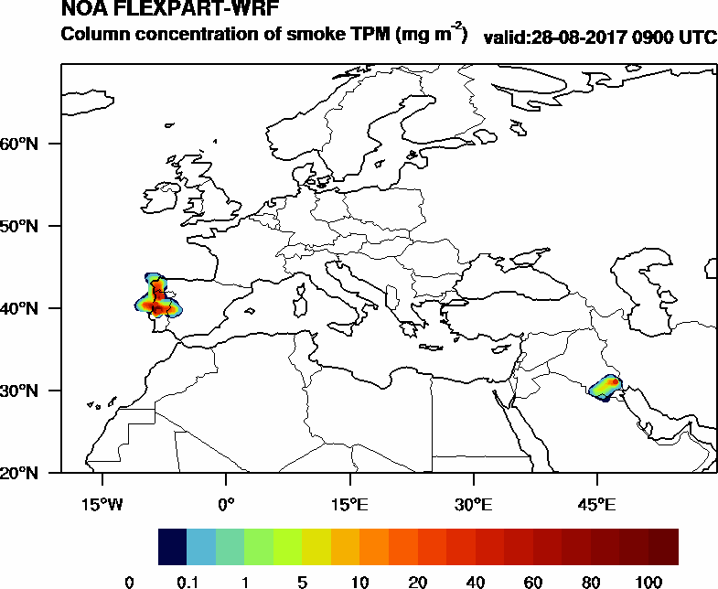 Column concentration of smoke TPM - 2017-08-28 09:00