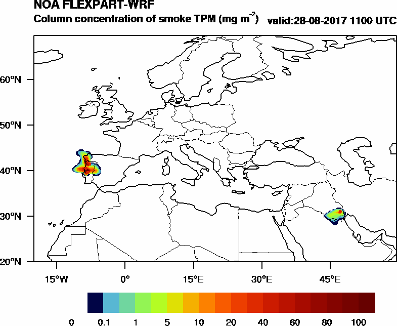 Column concentration of smoke TPM - 2017-08-28 11:00